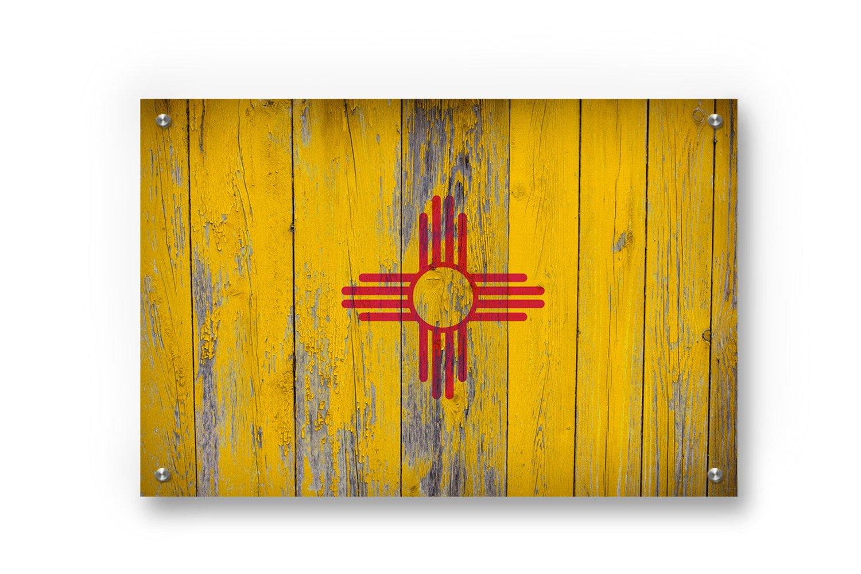 Amazon.com: New Mexico State Flag Graffiti Wall Art printed on ...