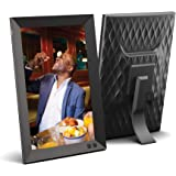 NIX 10.1 Inch USB Digital Photo Frame - Portrait or Landscape Stand, HD Resolution, Auto-Rotate, Magnetic Remote Control…