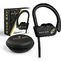 Back Bay Runner Wireless Bluetooth Earbuds [2020 Update] Sweatproof Headphones. Featuring Adjustable Ear-Hooks, 8-Hour…