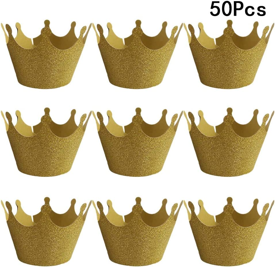 Cake Factory 45 Mini Cupcake Cases Baking Liner Muffin Dessert Gold FOIL Cake Petits Fours for Kitchen Baking Wedding Birthday Party Decoration Gift Set