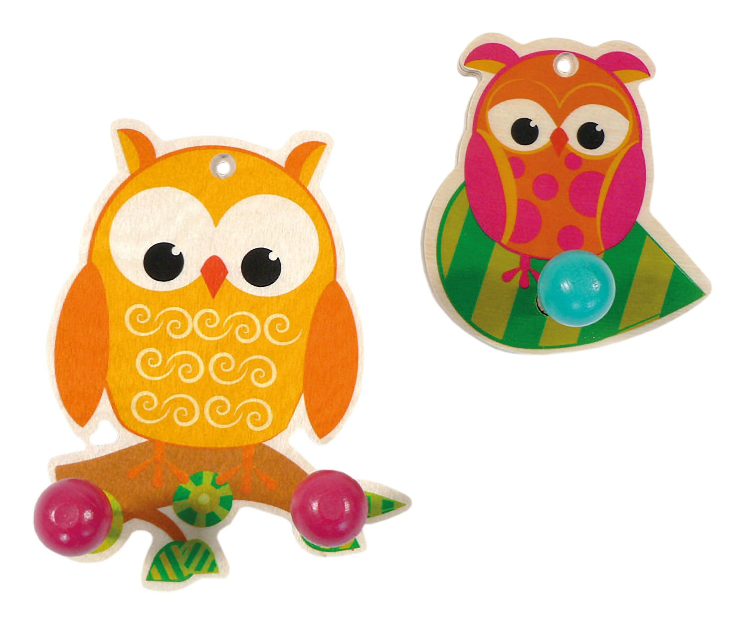 Hess Wooden 2 Owls Ward Robes Set Baby Toy, Small Hess_30315