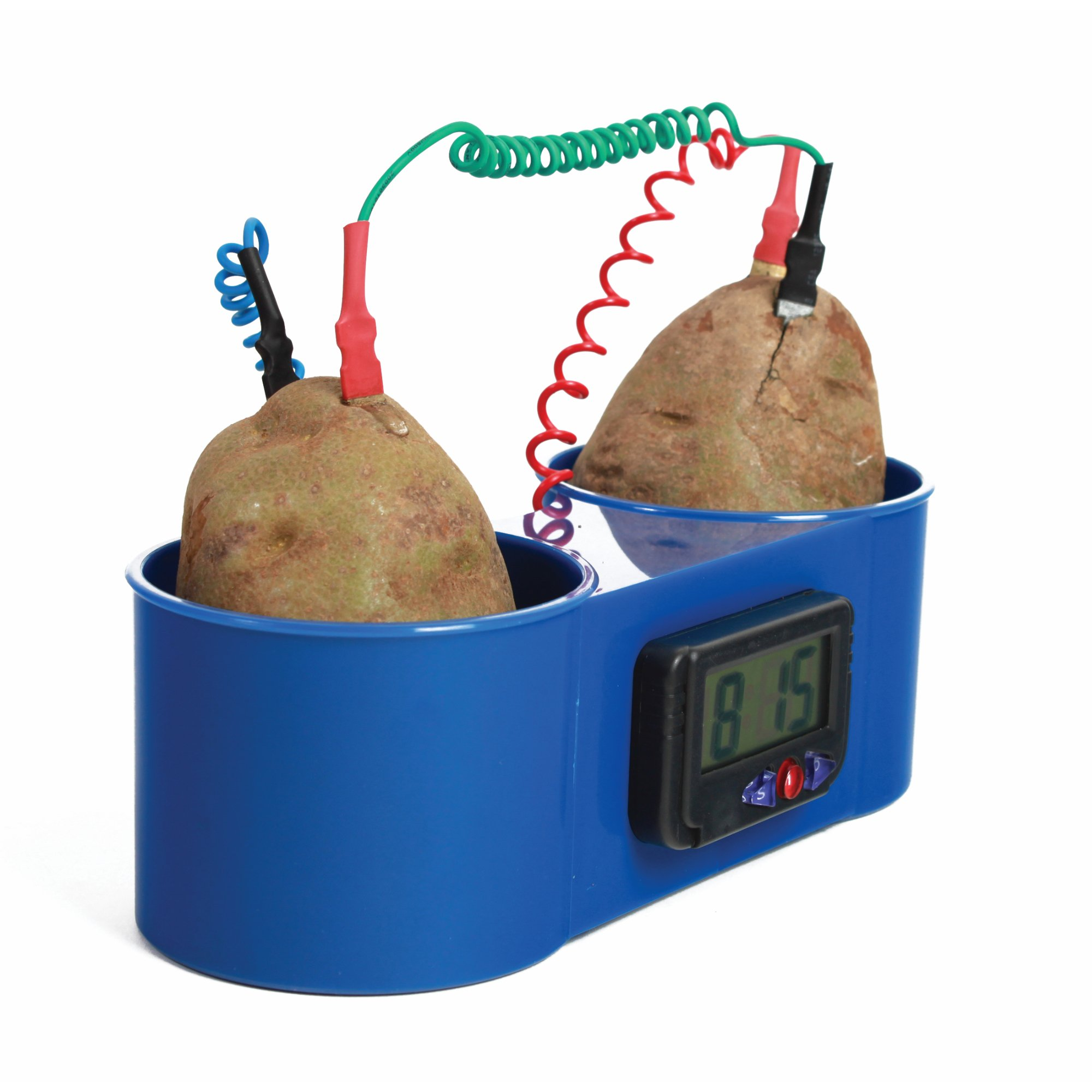 American Educational Blue Plastic Two Potato Clock, 8-1/2'' Length x 3-1/2'' Width x 2-3/4'' Height
