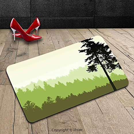 Custom Machine Washable Door Mat Apartment Decor Nature Theme Pino
