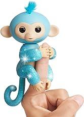 WowWee Fingerlings - Interactive Baby Monkey, Brillantina Turquesa