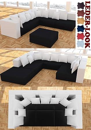 Modell Hollywood 2 Farbig Designer Wohnlandschaft 6 Luxusteile