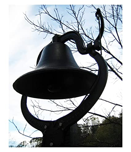 Large Cast Iron Dinner Bell Farm Church School #2 Antique Vintage Style  sc 1 st  Amazon.com & Amazon.com | Large Cast Iron Dinner Bell Farm Church School #2 ...
