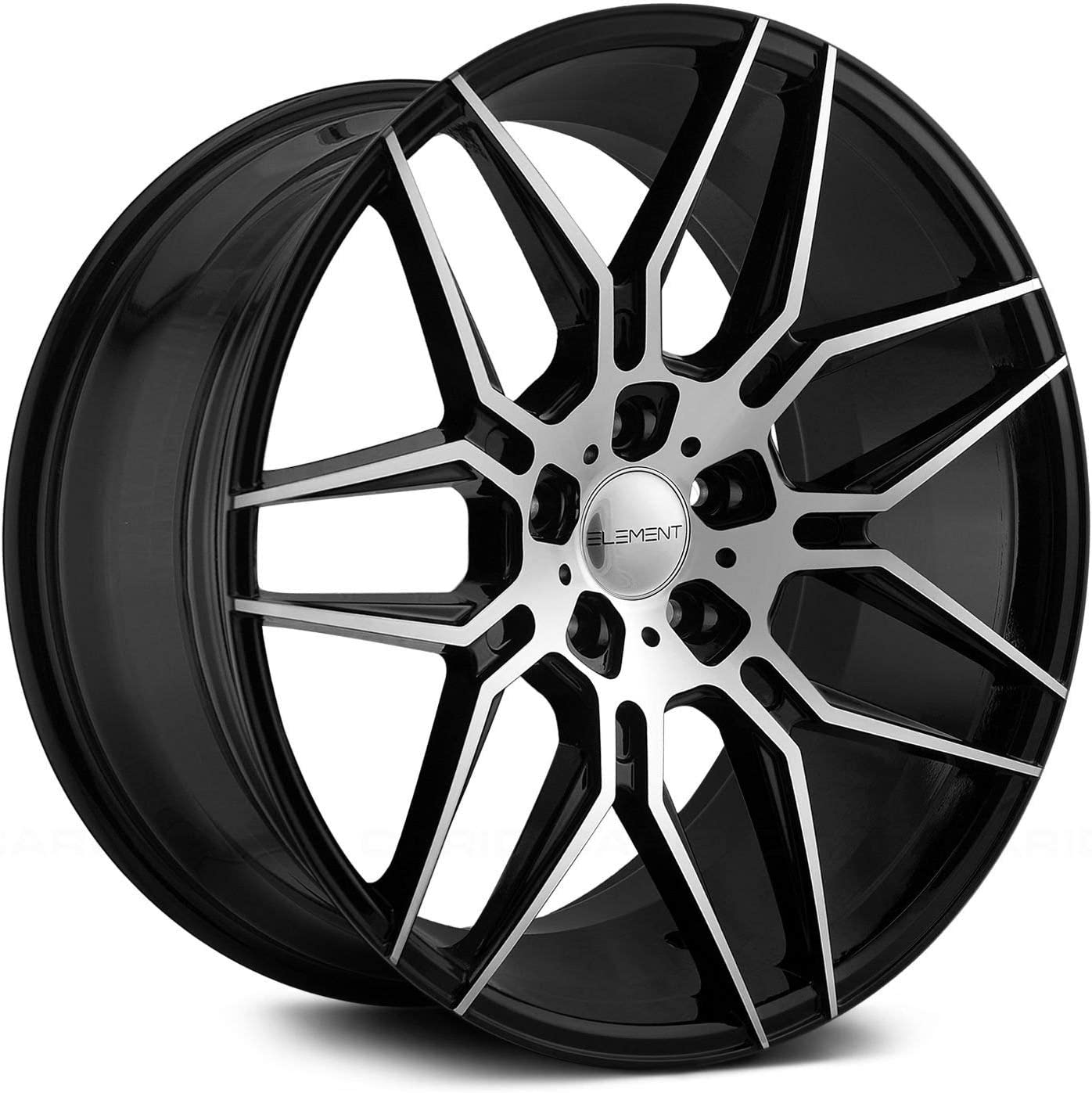 Spec-1 SP-53 Custom Wheel Gloss 17 x 7.5 42 Offset 5x114.3 Bolt Pattern Black Rims 5x112 73.1mm Hub