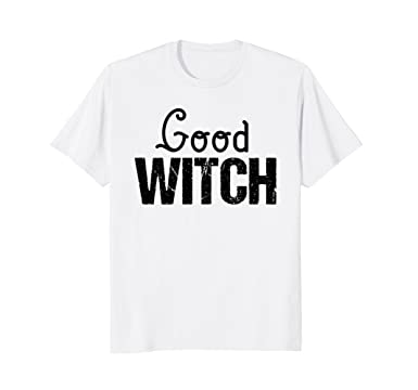 cfb999f0 Mens Friend Sister T Shirt Matching Good Bad Witch Funny Costume 2XL White