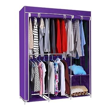 Kaluo Detachable DIY Non Woven Closet Portable Wardrobe Clothes Rack Storage  Organizer With Shelves For