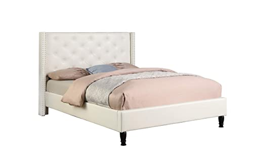 Home Life Premiere Classics Leather White Tufted