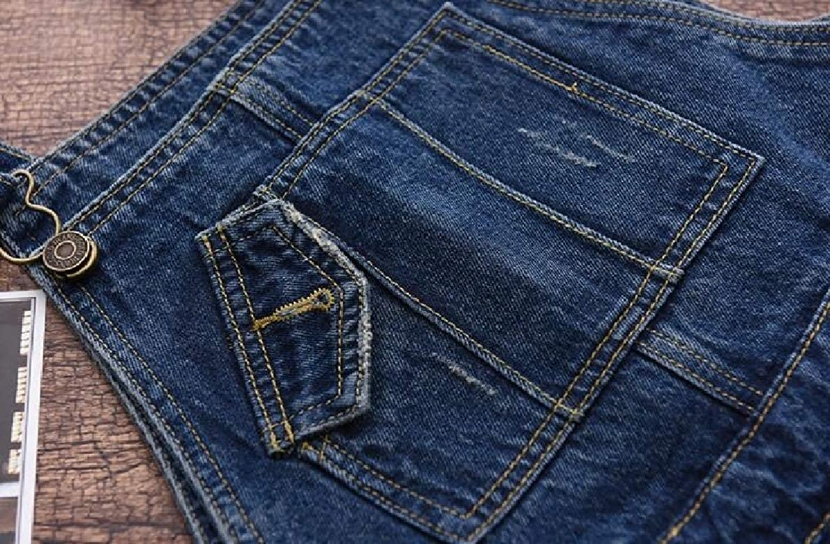 ONTBYB Women Fashion Baggy Denim Bib Harem Pants Overalls Romper Jumpsuit Pants