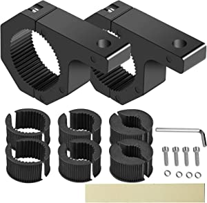 """SUZCO 2-Pack Offroad Led Light Mounting Brackets Horizontal Bar Tube Clamp Kit 1""""/1.5""""/1.75""""/2"""", Heavy-Duty Solid Aluminum Mount Roll Cage Roof Rack Holder for Off-Road Jeep Truck UTV ATV Bumper Ford"""