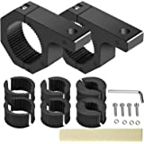 """SUZCO 2-Pack Offroad Led Light Mounting Brackets Horizontal Bar Tube Clamp Kit 1""""/1.5""""/1.75""""/2"""", Heavy-Duty Solid…"""