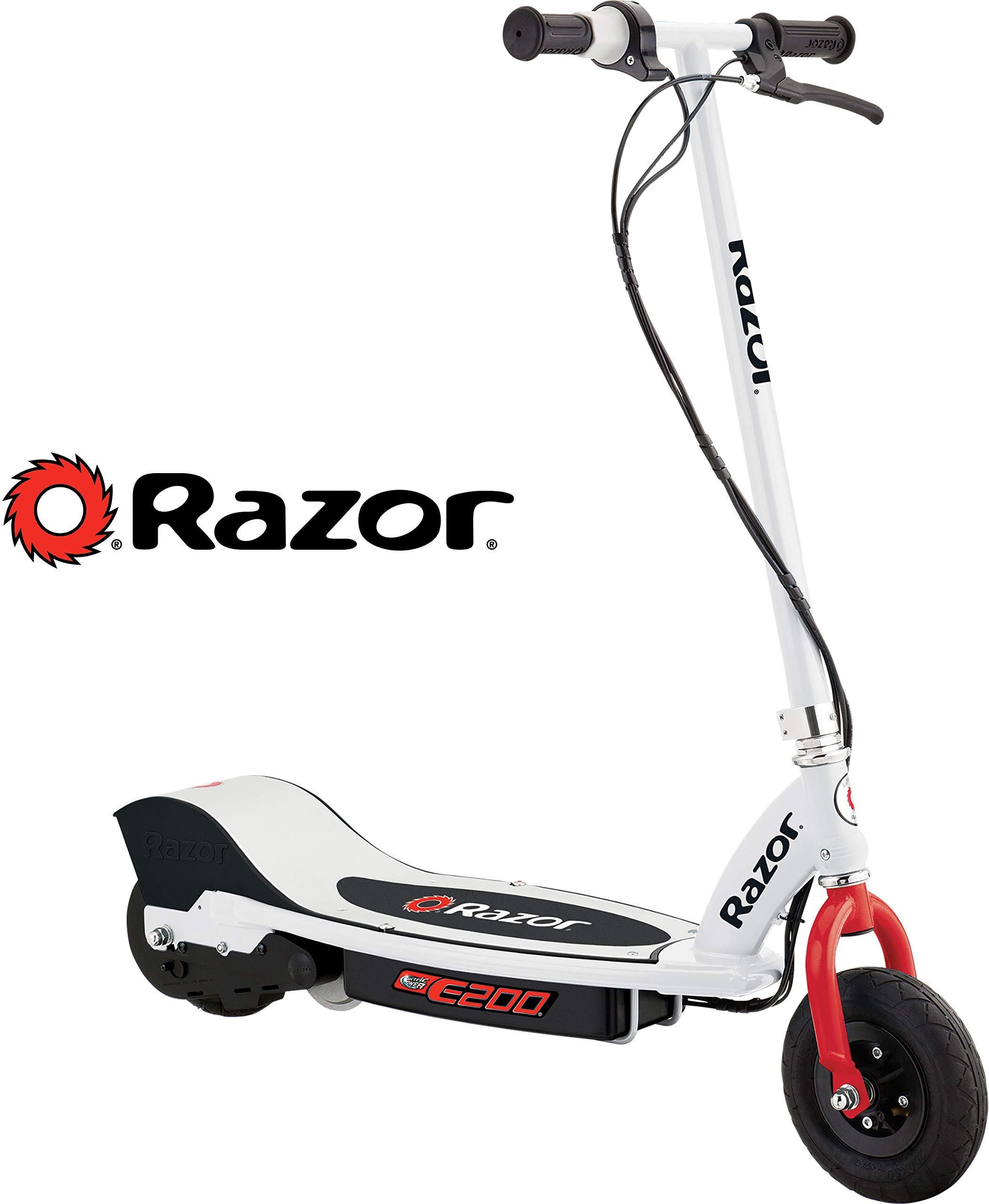 Razor E200 Electric Scooter - White/Red - 13112410 by Razor