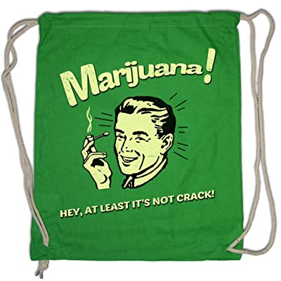 MARIJUANA Drawstring Bag Fun Cannabis Leaf Smoke Smoking Weed Pot Shit Kush