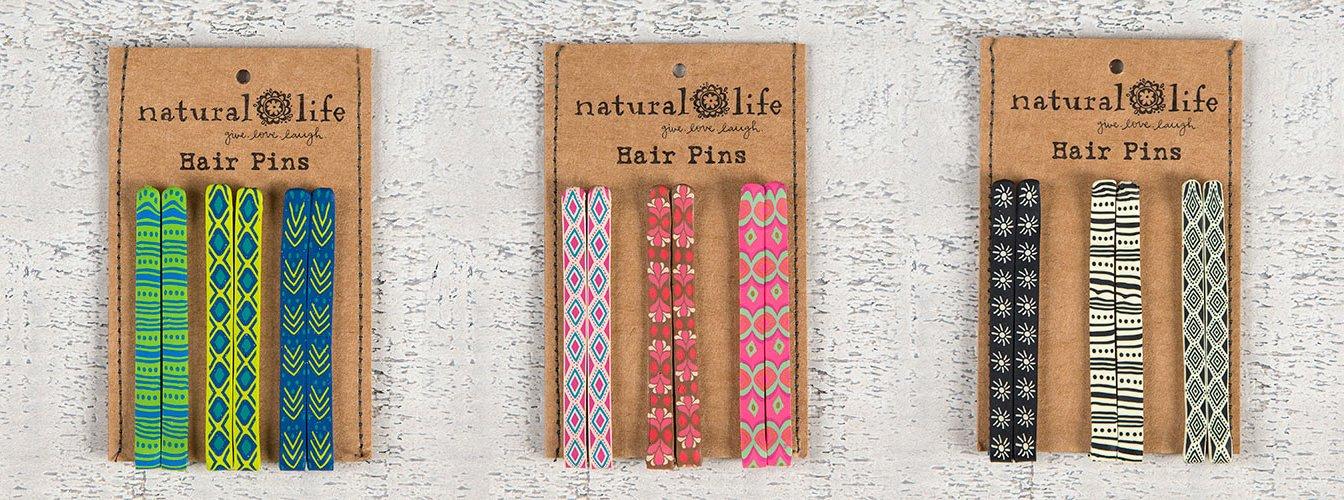 Natural Life Set of 18 Colorful Hair Pins by Natural Life