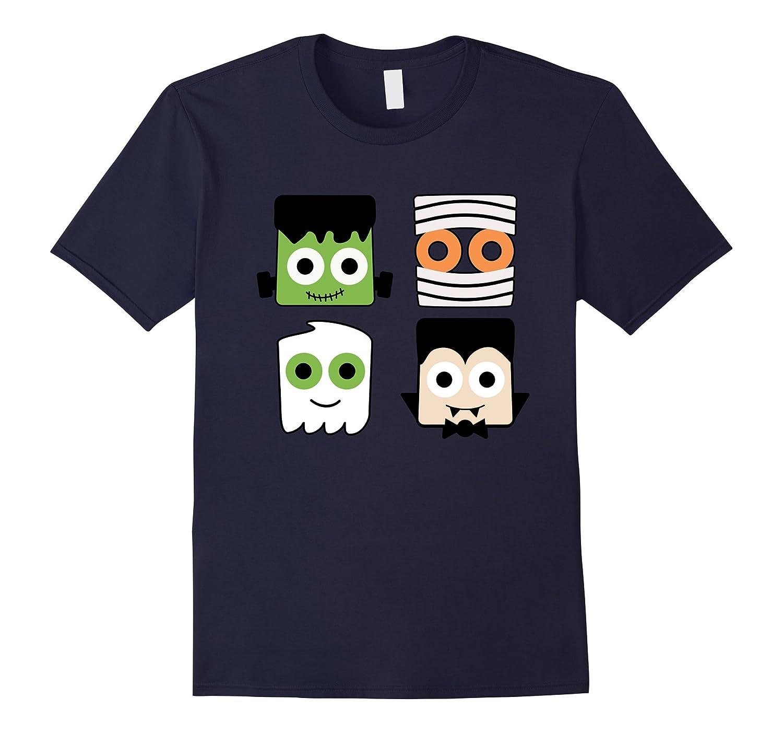 Ghost Mummy Dracula Frankenstein Halloween Shirts Boys Girls-mt
