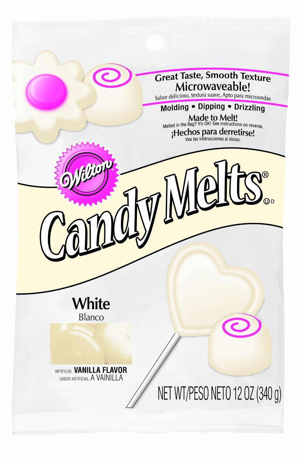Amazon.com: Wilton 1911-1366 Candy Melts, 12-Ounce, White ...