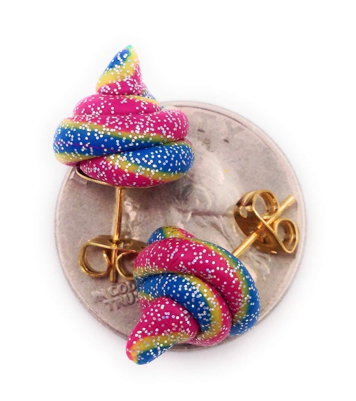 Fairy Plops Earrings Rainbow Glitter Sparkle 5