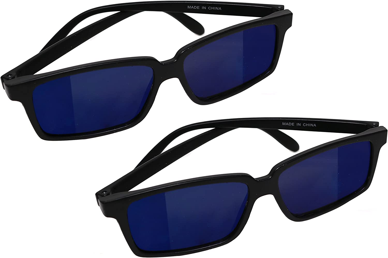 Smart Novelty Spy Glasses with Rearview Mirror Vision to See Behind You - 2 Pack