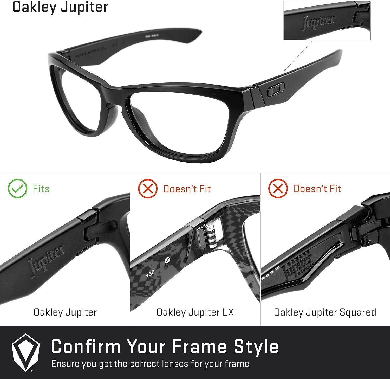 Revant Verres de Rechange pour Oakley Jupiter - Compatibles avec les Lunettes de Soleil Oakley Jupiter Photochromique Orange Adaptatif Nonpolarisés Elite