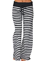WD-Amour Women's Comfy Striped Drawstring Yoga...