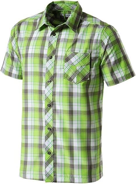 McKINLEY Hombre Tiempo Libre Senderismo Camisa de Cuadros Alma Verde Gris Multicolor