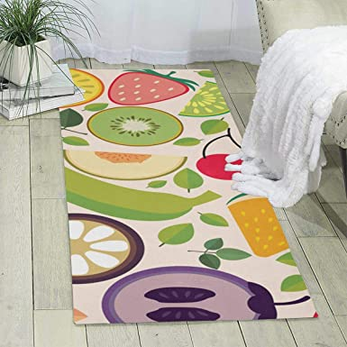Amazon Com Workout Mat For Yoga Fruit Food Print Area Rug Runner