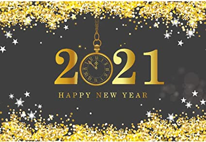 DaShan 12x10ft 2021 Happy New Year Backdrop Christmas 2021 New Year Eve Party Photography Background Gold Glitter Stars Sparkle New Year Winter Party Banner Festival Xmas YouTube Photo Props