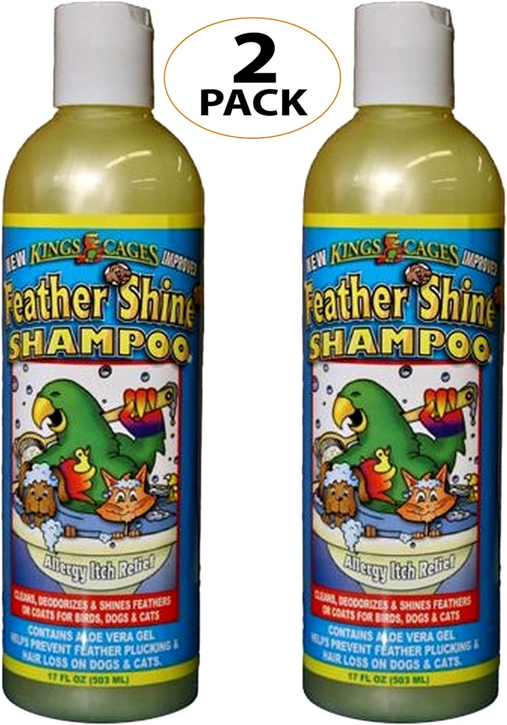 King's Cages Feather Shine 17oz Shampoo