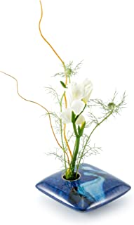 product image for Georgetown Pottery Square Ikebana Flower Vase, Blue Wave