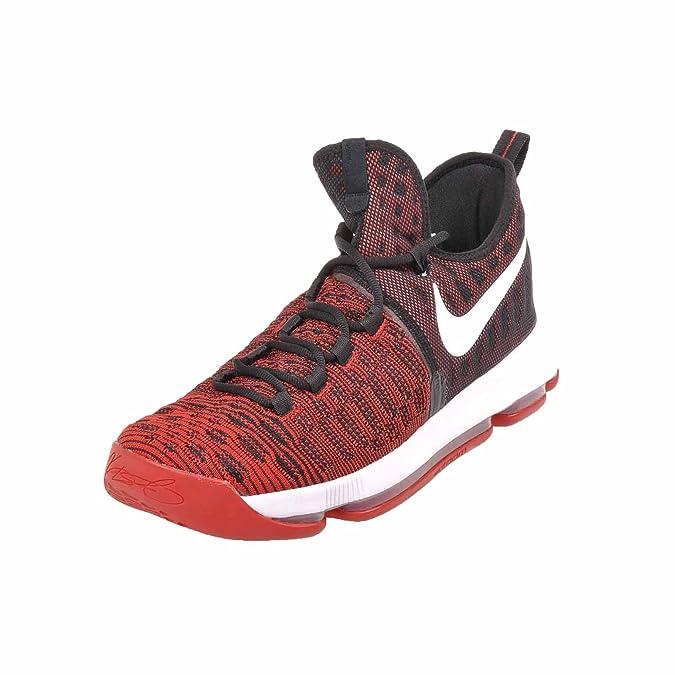 quality design cf474 4d909 Amazon.com   Nike Men s Zoom KD9 Elite Basketball Shoe (10.5 D(M) US,  University Red Black White)   Basketball