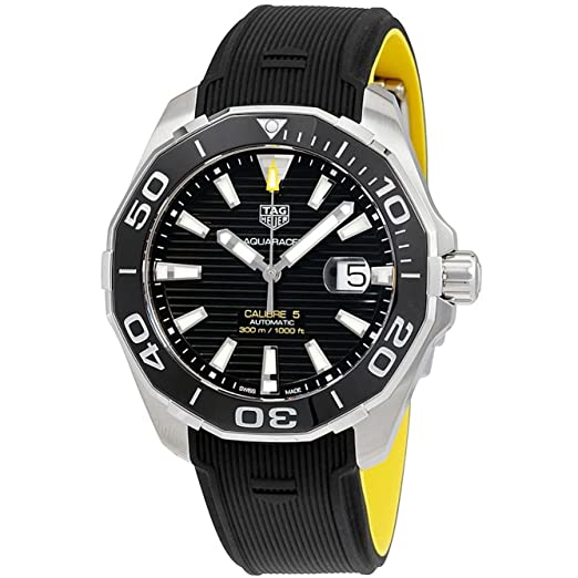 TAG Heuer Aquaracer Reloj de hombre automático 43mm WAY201A.FT6069: Amazon.es: Relojes