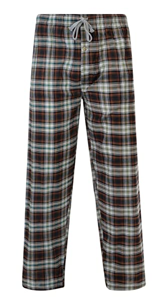 top-rated professional men/man new & pre-owned designer MENS PYJAMA BOTTOMS WOVEN COTTON CHECK LOUNGE PANTS