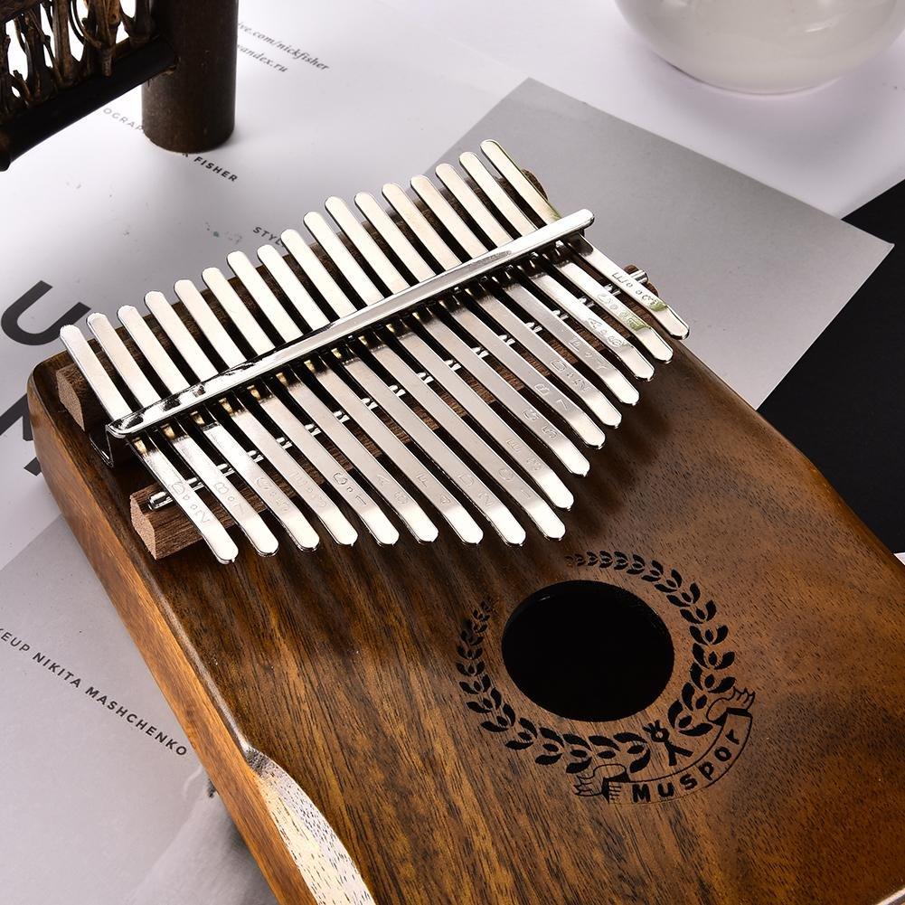 Purebesi Kalimba 17,Finger Piano Enlace Altavoz Eléctrico Pickup con Bolsa de Transporte Libro de Música Pegatinas a Escala Musical Martillo de Ajuste ...