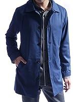(オークランド) ステンカラーコート スーツ地 撥水加工 ステンカラー コート スプリングコート タイト シルエット ロング丈 爽やか カジュアル モード メンズ