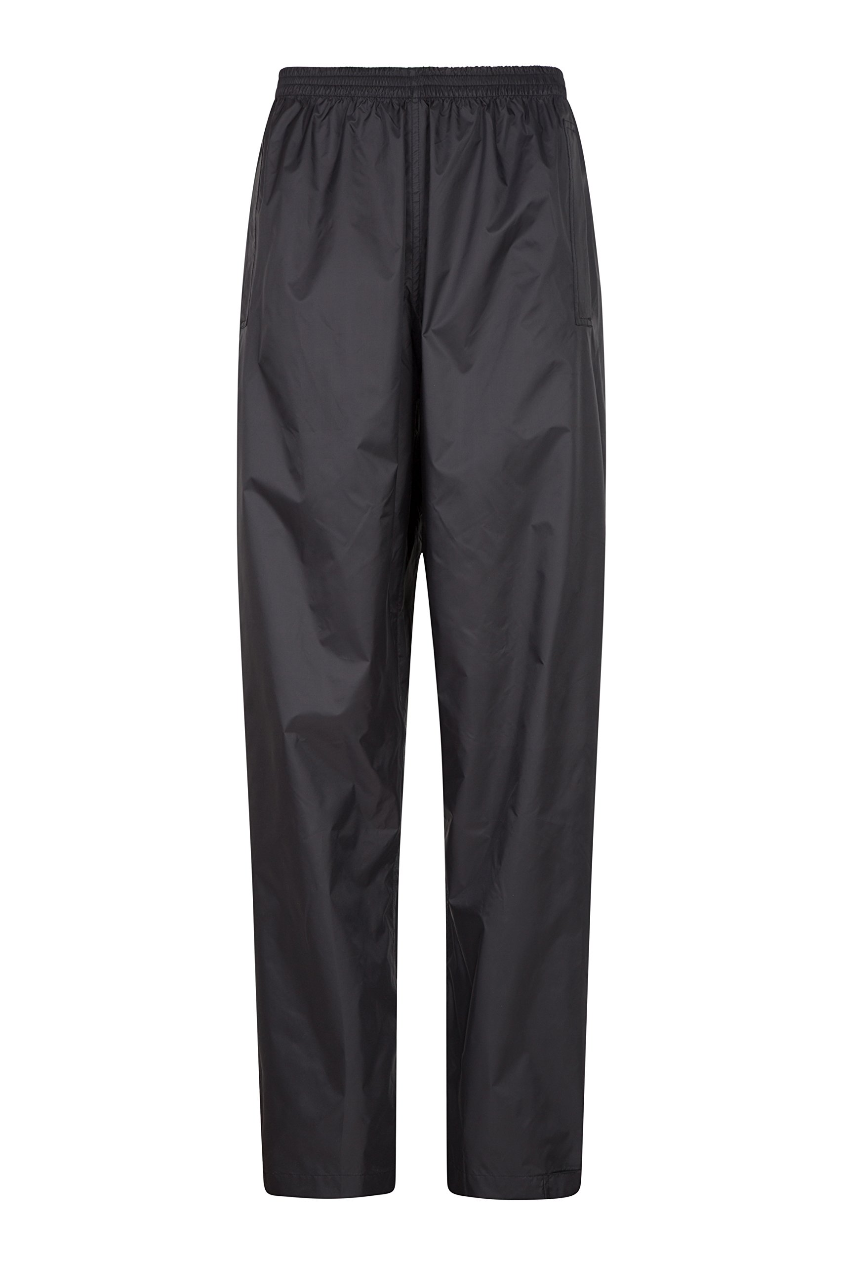 Mountain Warehouse Pakka Womens Rain Pants -Waterproof Ladies Pants Black 6