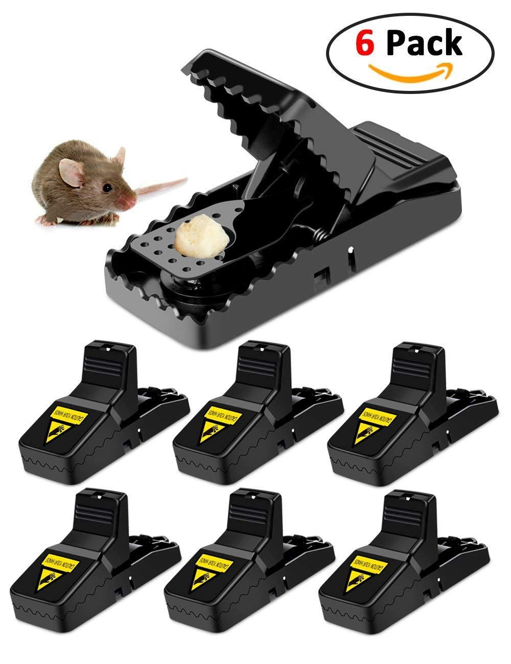 Mouse Trap Rodent Traps Mice Traps For Mouse Control Mouse Catcher Quick Kill Effective Rat For Kitchen Bedroom Garden Outdoor Indoor Bathroom Safe For Family Or Pets, 6 PACK by IUME (Image #1)