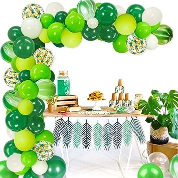 Fangleland Globos Verdes de 12 Pulgadas para el Tema de la ...