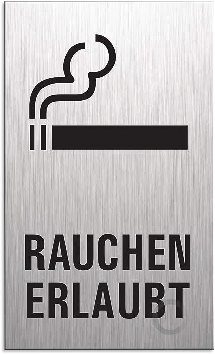 120x120 mm langlebig und kontrastreich Ofform Design WC-Schild Toilettenschild T/ürschild Hinweisschild Damen Herren Nr.17135-S Aluminium Edelstahloptik