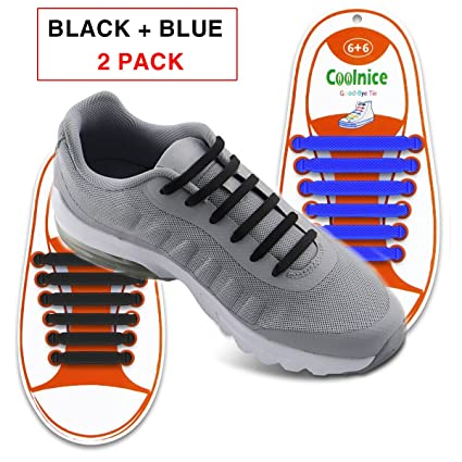 19a90e1c8a681 No Tie Shoelaces for Kids - Best in Sports Fan - Waterproof Silicon Flat  Elastic Athletic Running Shoe Laces with Multicolor for Sneaker Boot Board  Shoes ...
