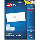 Avery Mailing Address Labels, Inkjet Printers, 750 Labels, 1 x 2-5/8, Permanent Adhesive, Easy Peel (8160)