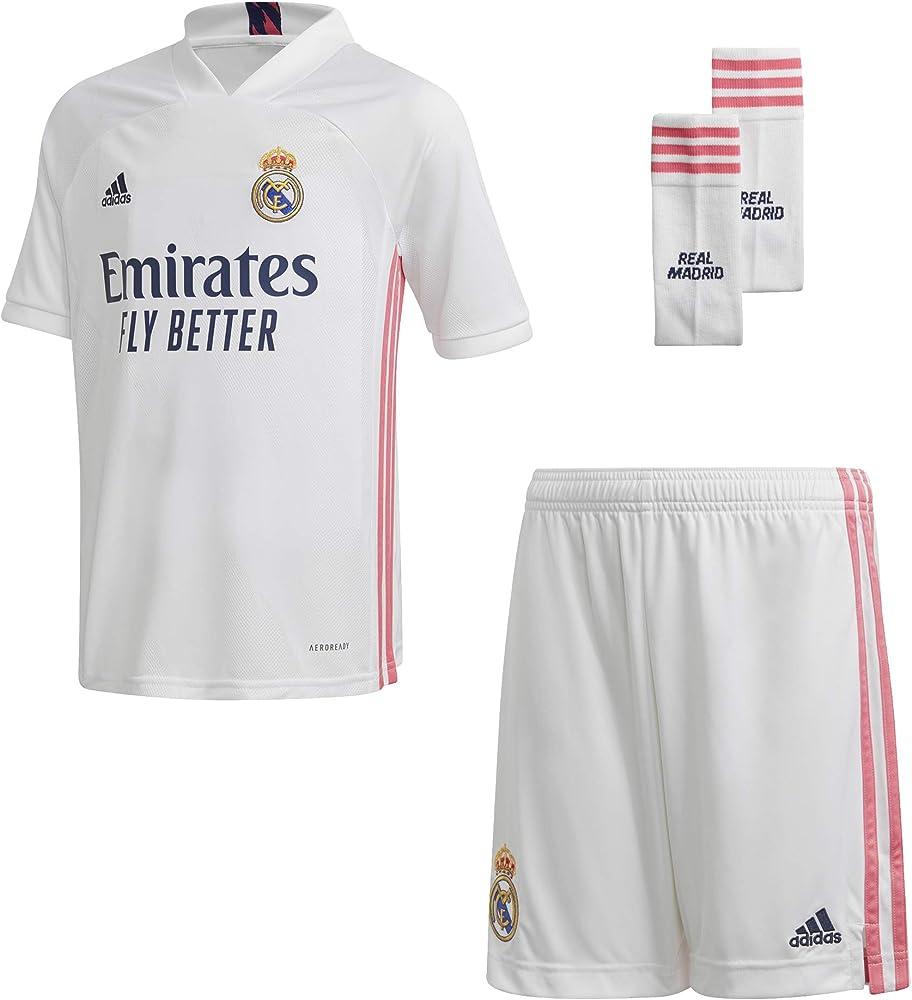 adidas Real H Y Kit Conjunto Deportivo, Unisex niños, Blanco, 128 (7/8 años): Amazon.es: Deportes y aire libre