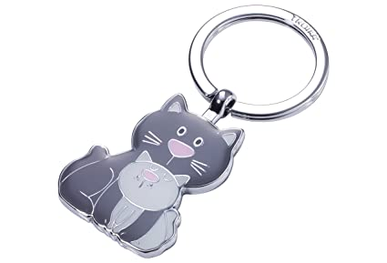Troika Cat & Kitty Llavero 8 Centimeters Gris (Grau)