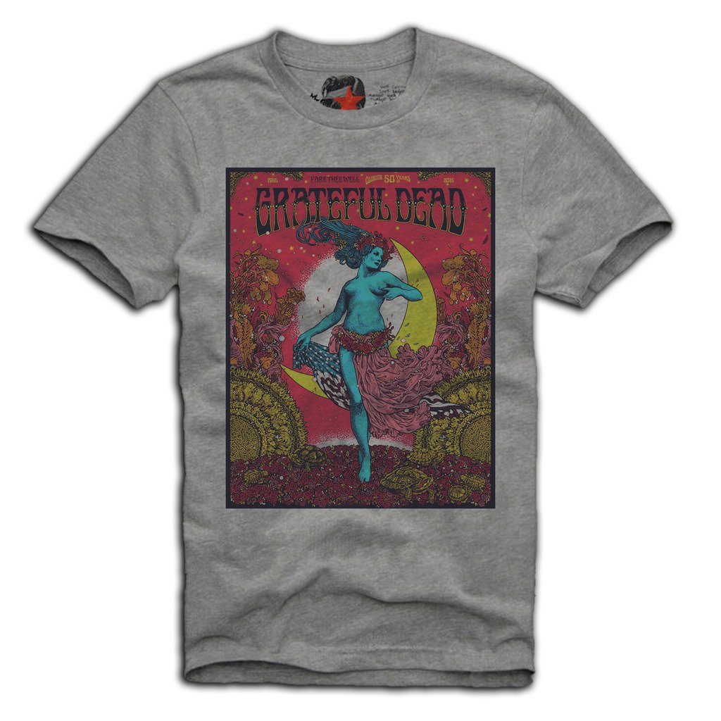 E1Syndicate Shirt Grateful Dead S/M/L/XL Pink Floyd Rolling Stones Johnny Cash Grey