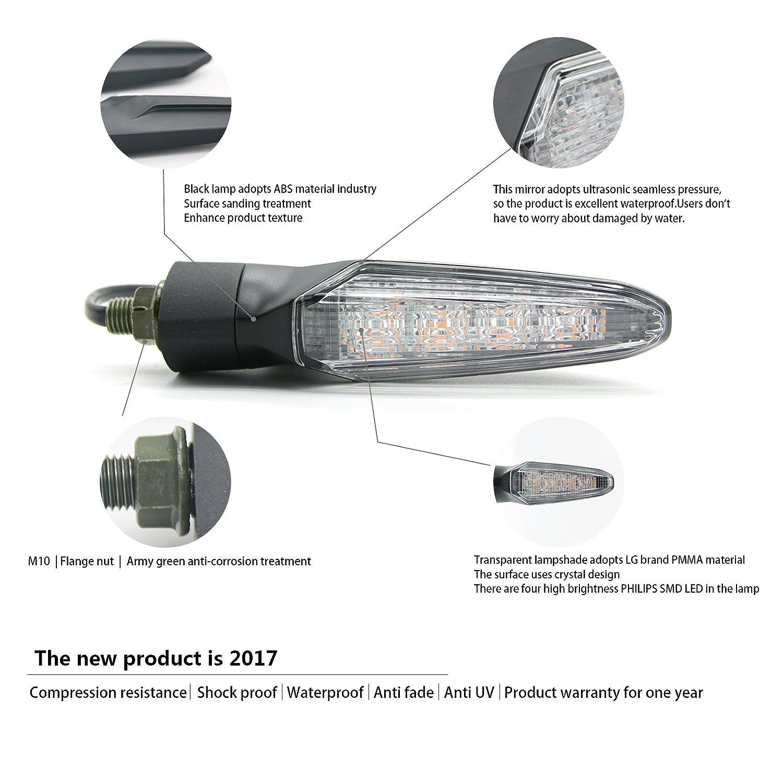 MFC PRO Universal SMD LED Technology Turn Signal Light Adopt Osram lamp beads for Yamaha R1 XSR900 MT07 MT09 MT10 MT-125 FZ-07 YFZ-R1 FZ-10 YFZ-R6 HONDA 500R 600RR 650F 1000RR CRF450 Grom125 MSX125 DEMY