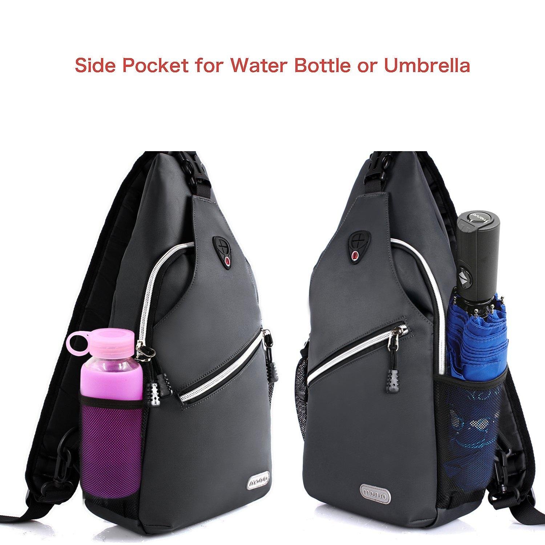 f3924e08f9 Mosiso Sling Backpack Polyester Crossbody Shoulder Bag for Men Women Girls  Boys  (Navy Blue