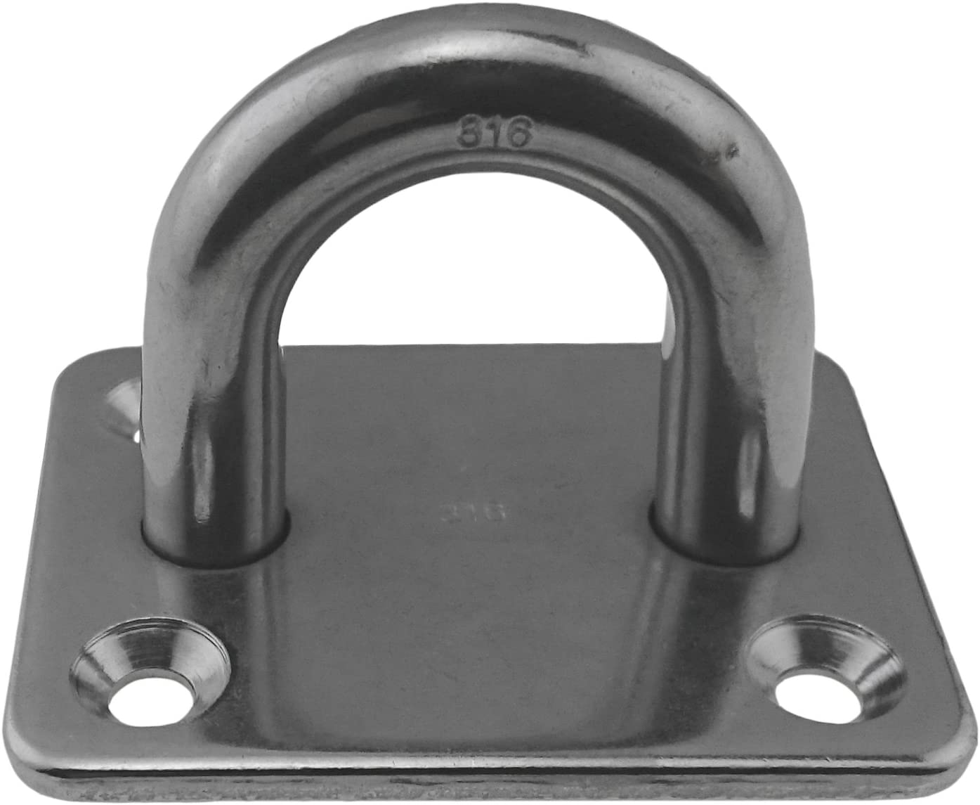 "Marine Grade Stainless Steel 316 Square Pad Eye 3//8/"" 2 3//8/"" x 1 7//8/"" 10mm"