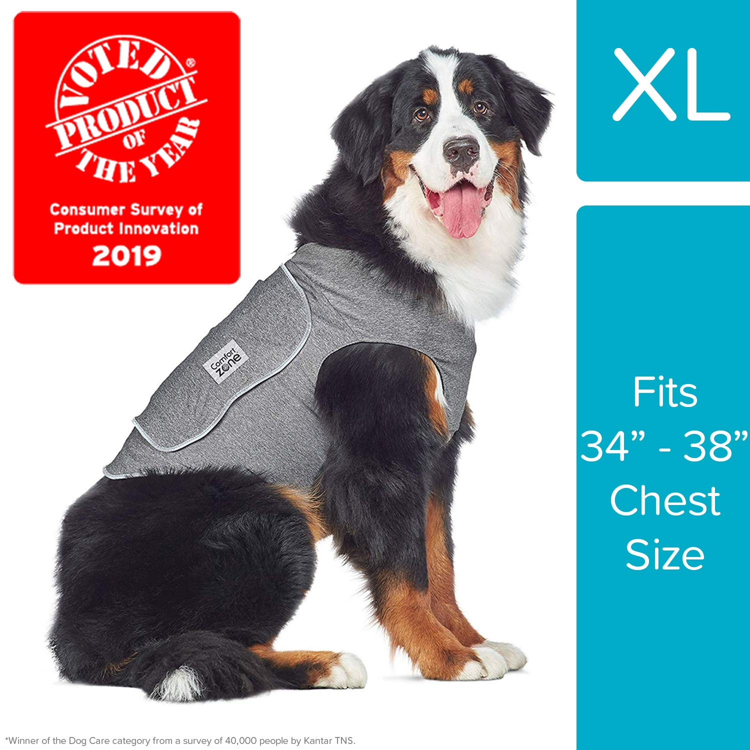 Comfort Zone Calming Vests for Dogs, for Thunder and Anxiety, Extra Large (34-38'' Chest)