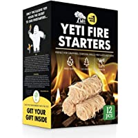 WH Natural Tumbleweeds Fire Starters for Charcoal Grill BBQ Fireplaces Campfires Wood Stoves Pit Ovens 12 Pieces Box…